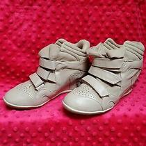 Charlotte Russe Tan Spike Wedge Heel Sneakers Women's Size 8 Shoes Photo