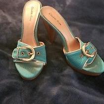 Charlotte Russe Teal Mule Heels Photo