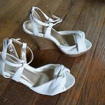 Charlotte Russe- White Summer Wedge Heel Shoes Wedding Bridesmaid Sz 8 Photo