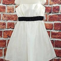 Charlotte Russe White W/ Sequins Prom Formal Strapless Corset Dress Size 8 Nwt Photo