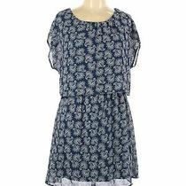 Charlotte Russe Women Blue Casual Dress L Photo