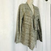 Charlotte Russe Womens Gray Open Knit Open Front Cardigan Sweater Size Large Photo