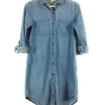 Charlotte Russe Women's Size Xs Blue 100% Cotton Long Sleeves Denim Style Dress  Photo