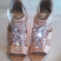 Charlotte Russe Women Shoes/sandal's Platform Stiletto Heels Sz 6 Gold/bling Photo