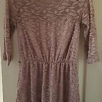 Charlotte Russe Womens 3/4 Sleeve Blush Colored Lace Dress Size M Photo