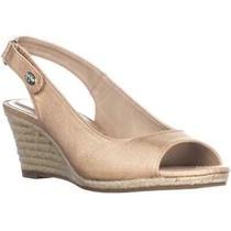 Charter Club Womens Samiee Peep Toe Slingback Wedge Pumps Blush Size 10.0 Photo
