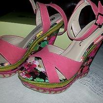 Chase & Chloe Lauren Wedge With Colorful Flower  Heel Photo
