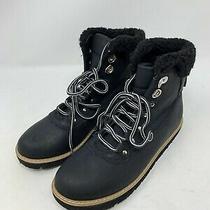 Chase & Chloe Sherpa Cuff Winter Boots Shoes Zenia-1 Black (Size 6) Photo