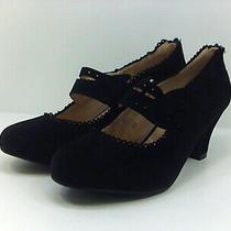 Chase & Chloe Women's Shoes J4mwyo Heels & Pumps Black Size 8.5 Photo
