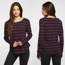 Chaser Baby Rib Thumbhole Extended Cuff Shirttail Blue Red Small  Photo