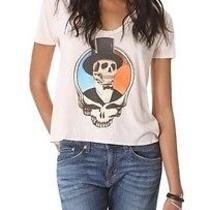 Chaser Brand Grateful Dead Skull Girly Scoop Neck Gathered Back Tee Large 62 Photo