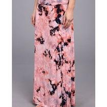 Chaser Brand Nwt 98 Fold-Over Tie Dye Maxi Skirt Thick Knit Sz M Fabulous Photo