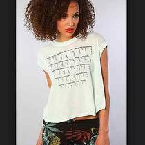 Chaser La Fck Love Muscle Boxy Rock Tee T Shirt Top Mint Green 50 Sz S Photo