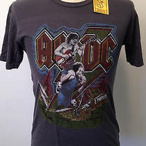 Chaser Men's T-Shirt Ac/dc Angus Young Brian Johnson Shoulders Dark Grey Med Nwt Photo