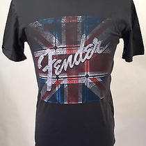 Chaser Men's T-Shirt  Fender Union Jack Amp Stack Dark Grey Size M New Uk Flag Photo