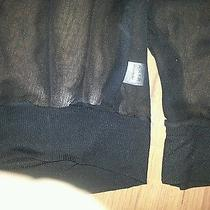 Chaser Silk Blend See Through Black Blouse Size M Photo