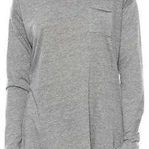 Chaser Top Large Long Sleeve Tee Pocket Tee Gray Cotton Blend  Photo
