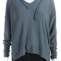 Chaser Womens Long Sleeve Pullover Hoodie Slate Blue Size Large Photo