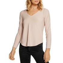 Chaser Womens Pink v-Neck Knit Blouse Top Shirt S  3465 Photo