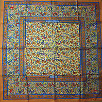 Chasse en Inde Hermes Scarf (New-Tags) 100% Silk 90cm Authentic Photo