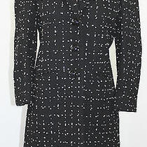 Cheap and Chic by Moschino Black/white Boucle Skirt Jacket Cashmere 10 8 Rare  Photo