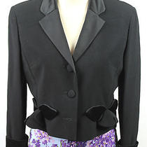 Cheap & Chic by Moschino Black Crop Blazer Jacket Size 10 Medium Italy Vintage Photo
