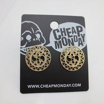 Cheap Monday Gold Hollow Circle Wave Stud Gem Teen Earrings Cute Charm Elegant Photo