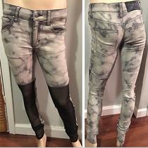 Cheap Monday Grey Denim Jeans With Black Mesh 28 Photo