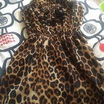 Cheetah Print Express Dress With Black Ruffles Cute Photo
