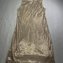 Chelsea and Violet Sequin Dress Xsmall Xs  Rose Gold Keyhole Back Lined Photo