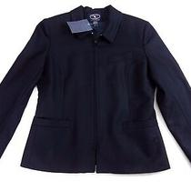 Chelsea Campbell for Charter Club Women's Size 8 100% Wool Lined Zip Up Blazer  Photo