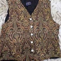 Chelsea Campbell Women's Size Small Dress Vest Embroidered Lined Made in Usa Photo