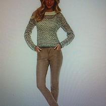 Chelsea & Violet Balmain Metallic Cropped Sweater Xs Photo
