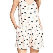 Chelsea28 New Pink Blush Polka Dot Women's Size Medium M Romper 98 216 Deal Photo
