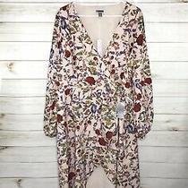 Chelsea28 Women's Nwt L/s Pink Blush Antique Botanical Wrap Dress Sz 18 Photo