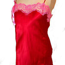 Chemise Nightie Victoria's Secret Bright-Red Pink-Lace S Photo