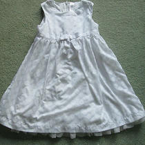 Cherokee White Polka Dot Sleeveless Fancy Dress Size 5t Pretty Photo