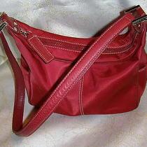 Cherry Red Fossil Shoulder Handbag Purse-Logo-12