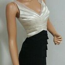 Chetta B- Sherrie Bloom Sexy Black & Ivory Tiered  Silk/mesh Dress 2 Photo