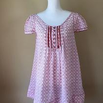 Chevignon Blush Pink Print Tunic Us Women Size-M Photo