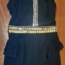 Chic Black Bebe Dress With Gems Size 2 Photo