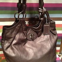 Chic Coach Graphite Gunmetal Leather Slim Parker Tote 14162  Only 1 on Ebay Photo