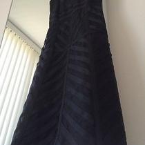Chic Laundry Shelli Segal Sz 0 Black Silk Tape Dress Photo