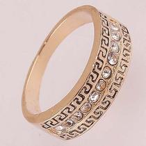 Chic Women Men 14k Rose Gold Filled Us Size 8 Crystal Figure Ring Jewelry C596 Photo