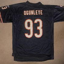 Chicago Bears Nfl Football Jersey Adewale Ogunleye De 93 Reebok Large  Classic Photo