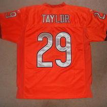 Chicago Bears Nfl Football Jersey Chester Taylor 29 Reebok Sewn Orange 48 Nice Photo