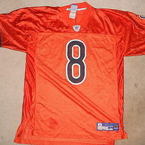 Chicago Bears Nfl Football Jersey Rex Grossman Reebok Large Orange Rex Is Our Q Photo