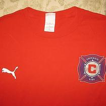 Chicago Fire T Shirt Soccer Football Red M Medium Puma Nice  Photo