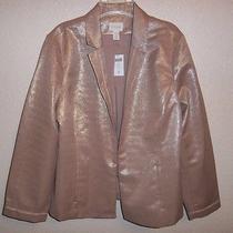 Chico's Antique Blush Glimmering Blush Jacket Size Size 3 (16/18) Nwt Photo