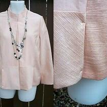 Chico's Dress Jacket Blazer Size 1 S M 8 10 Blush Pink Xmas Holiday Ezcare Top Photo